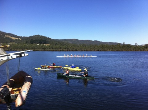 Pic from Franklin Marine: Rowing on Huon