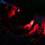 LED Lenser SEO 3 Head Torch In Red Light Mode