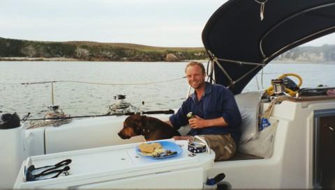 "Sailer and Dog anchored off ""Broughton Island"""