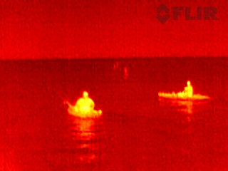 Kayakers can be clearly seen even at night.
