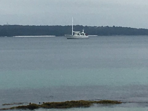 Anchored off Scottish Rocks –outside seagrass beds over 10m