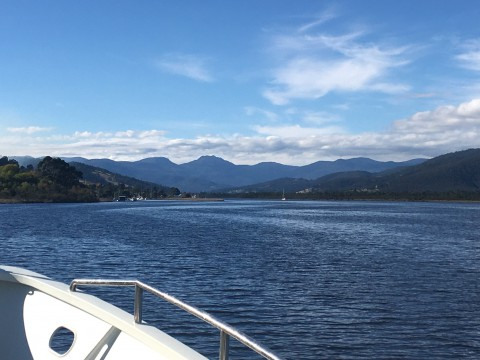 Coming up the Huon River, approaching the Port of Franklin