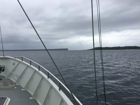 Departing Jervis Bay