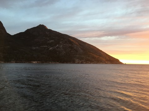Northern Entrance to Wineglass –Sleepy Bay is a good anchorage in N.E