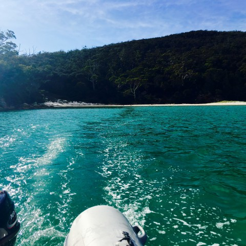 Quiet Corner –perfect anchorage and swell-free dinghy landing beach