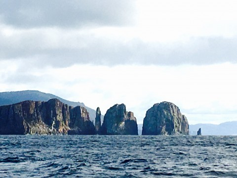 The Lanterns from the south –after leaving Fortescue Bay