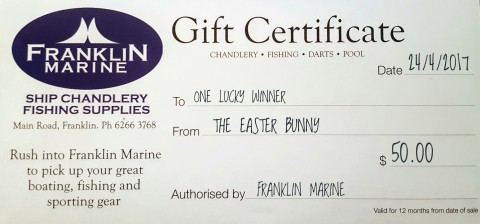 Gift Certificate Easter 2017